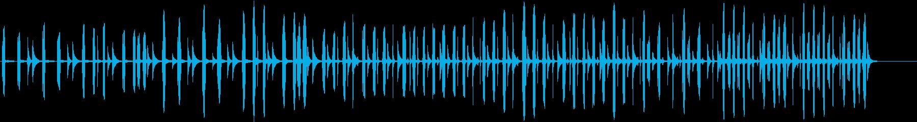 リコーダーのほのぼのした印象の曲の再生済みの波形
