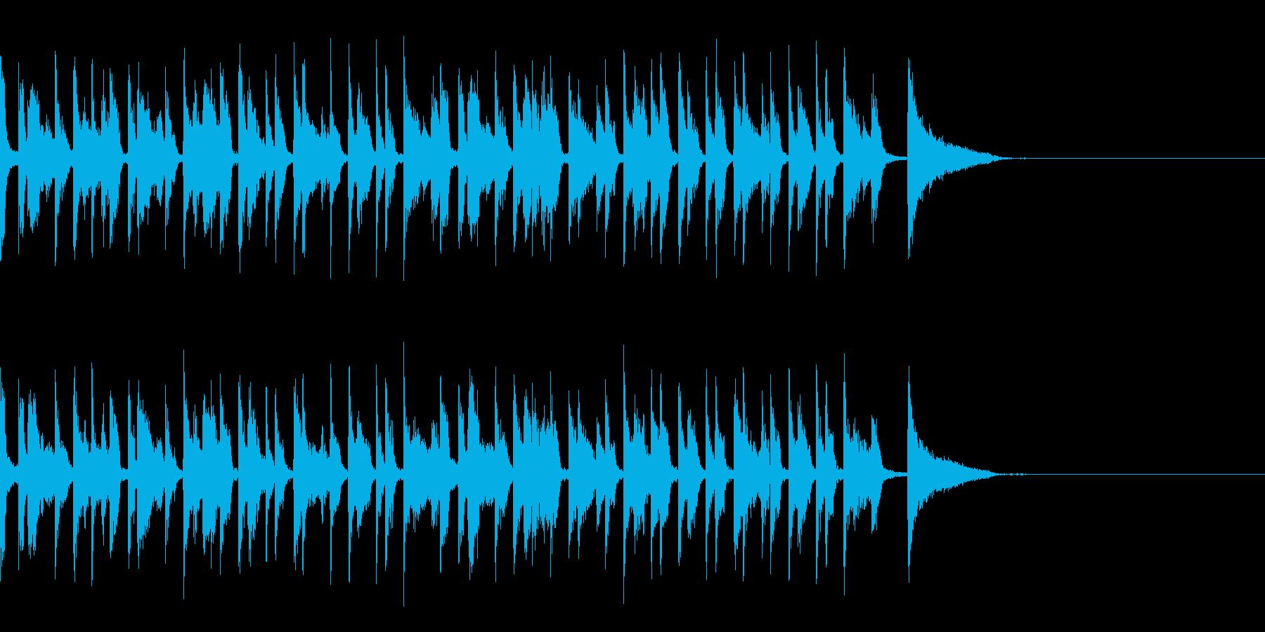 カフェ風 ジャズの再生済みの波形