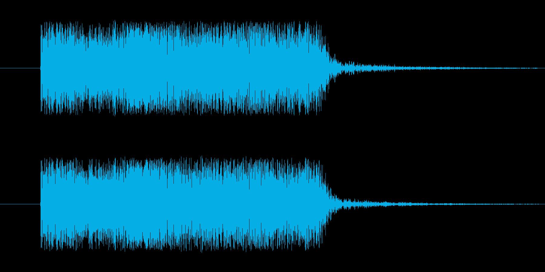 ギターのピックスクラッチ音ですの再生済みの波形