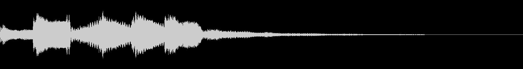 レベルアップする時の効果音(長め)の未再生の波形