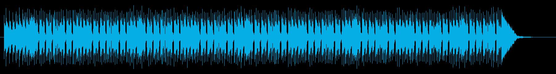 軽快なドラムテンポの明るいミュージックの再生済みの波形