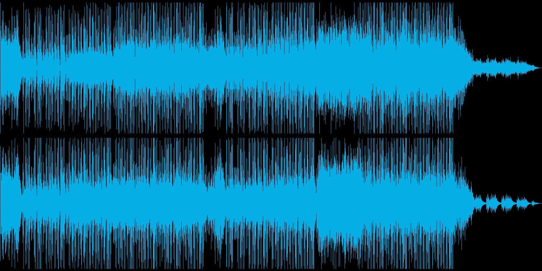 優しく穏やかな雰囲気の3拍子の曲の再生済みの波形