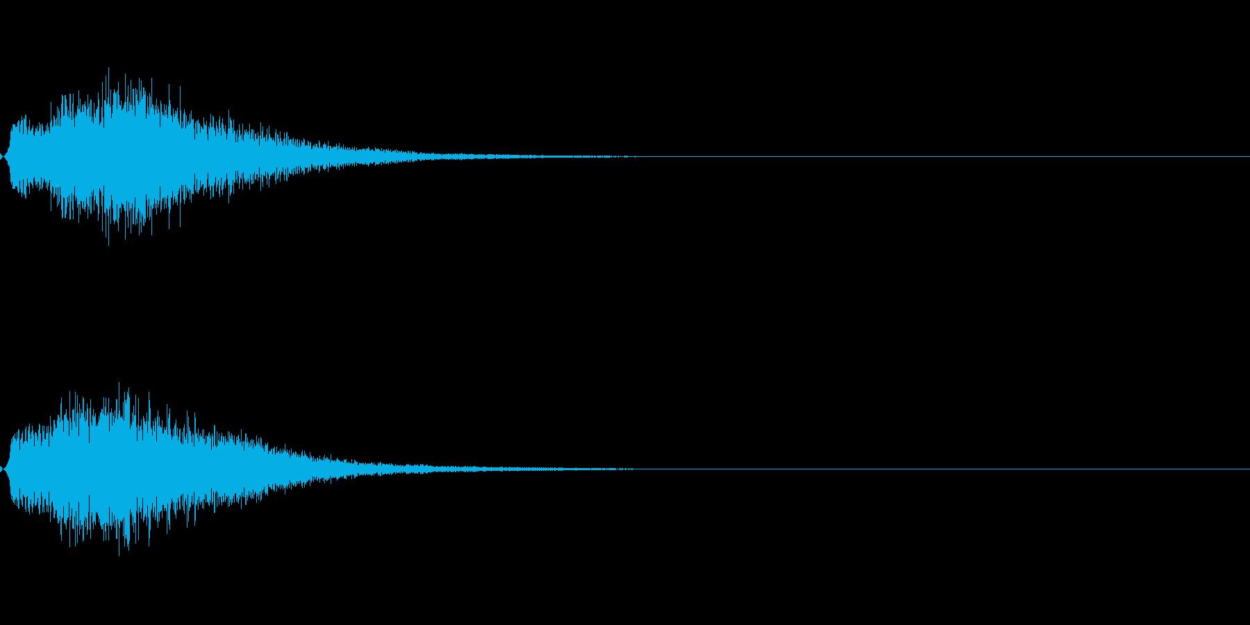 キュイン キーン シャキーン 光る 08の再生済みの波形
