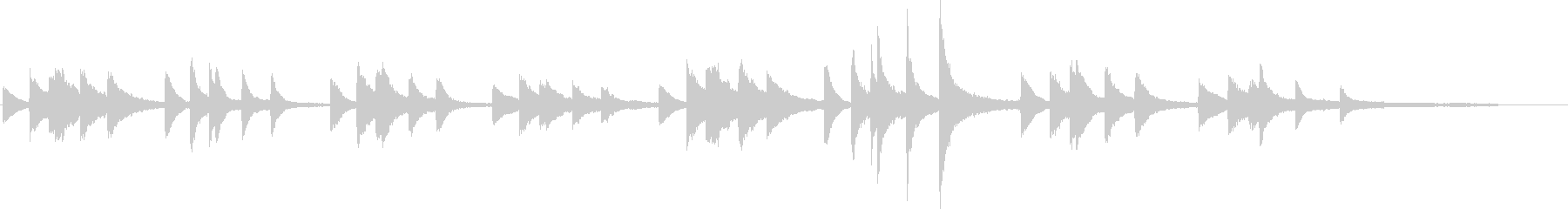 太田胃酸のCMで使われているショパンの曲の未再生の波形