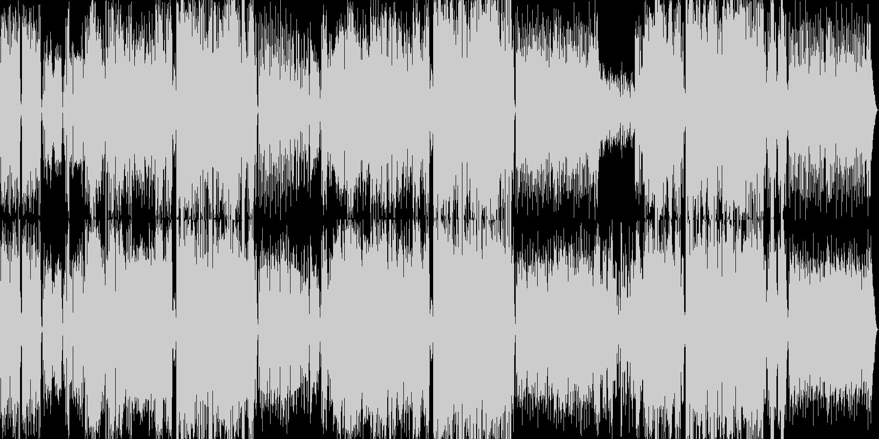 十分なハモリのあるピアノポップソングの未再生の波形
