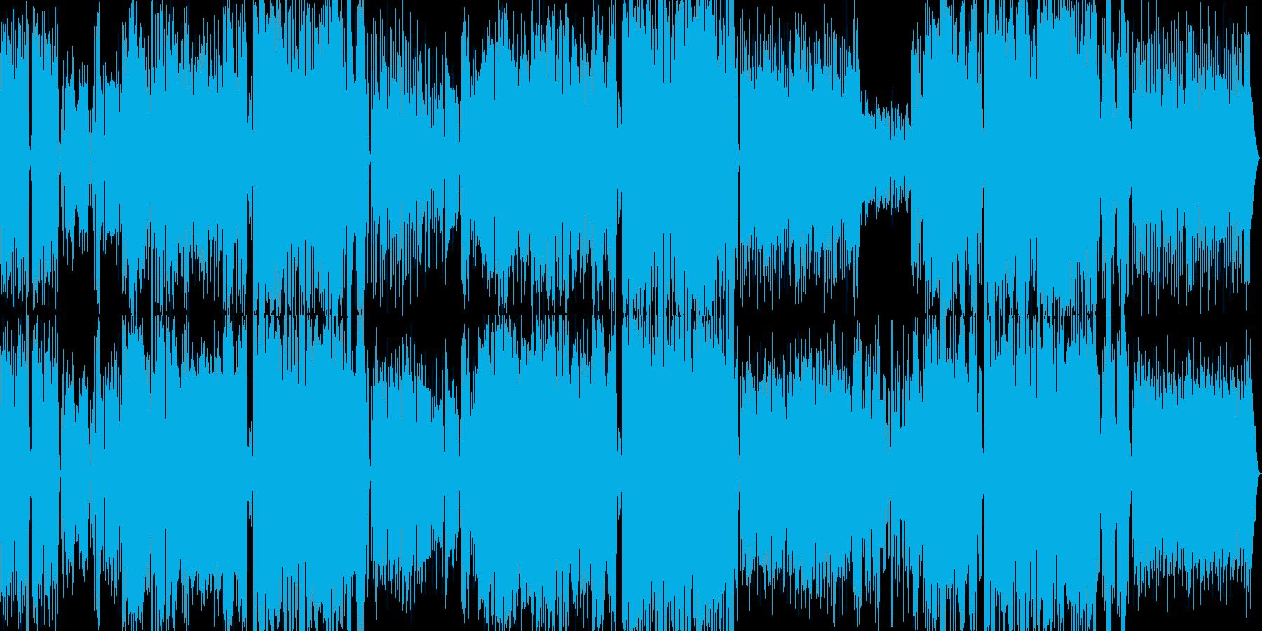 十分なハモリのあるピアノポップソングの再生済みの波形
