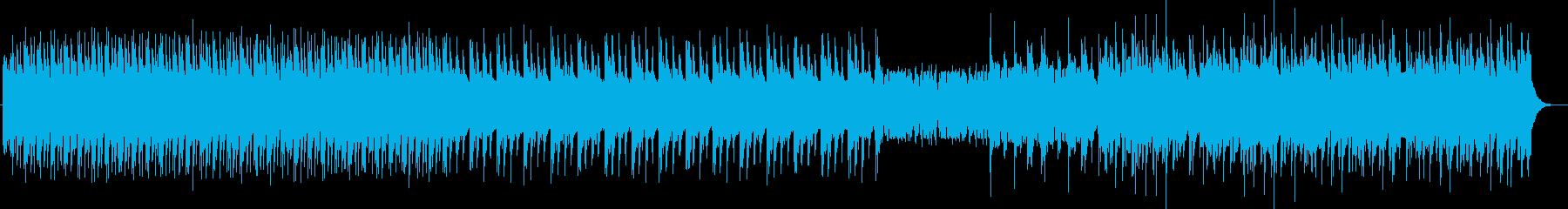 速い暴走した時のロック曲の再生済みの波形