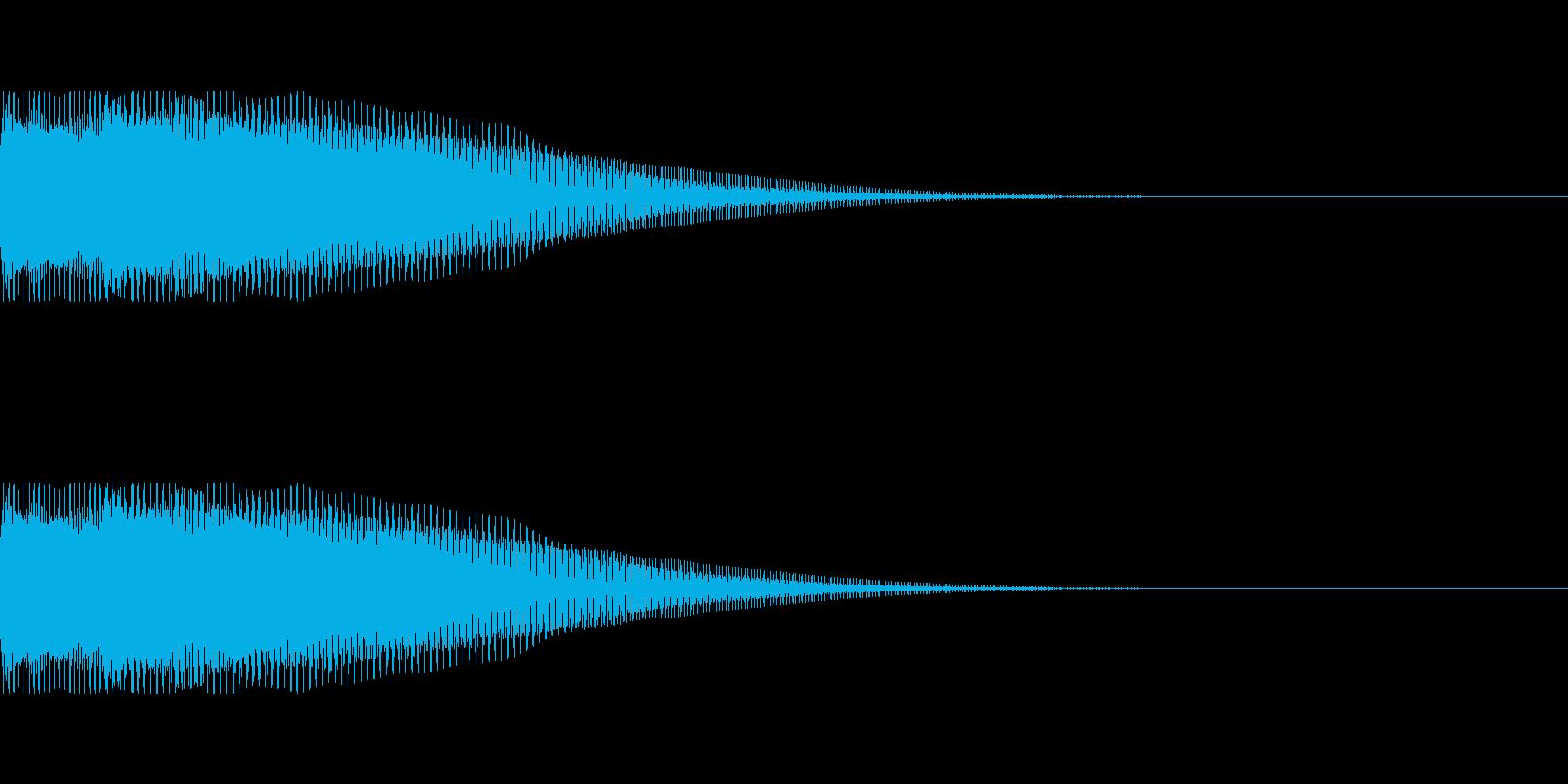 クイズ早押しボタンの音(ピンポンッ)の再生済みの波形