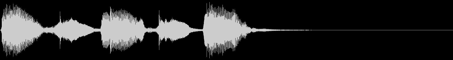 コミカル キッズ ジングルの未再生の波形