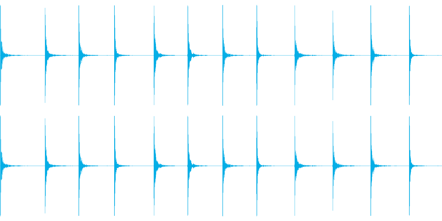 x:木に刻まれた絶え間ない刻の再生済みの波形