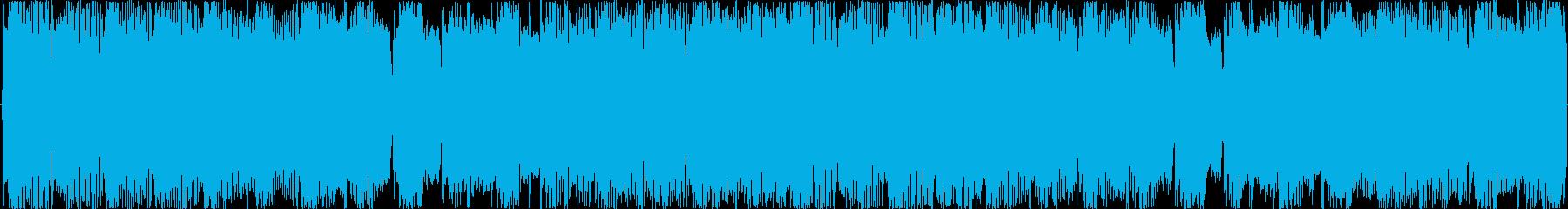 電子的な音で繰り返される楽曲です。の再生済みの波形
