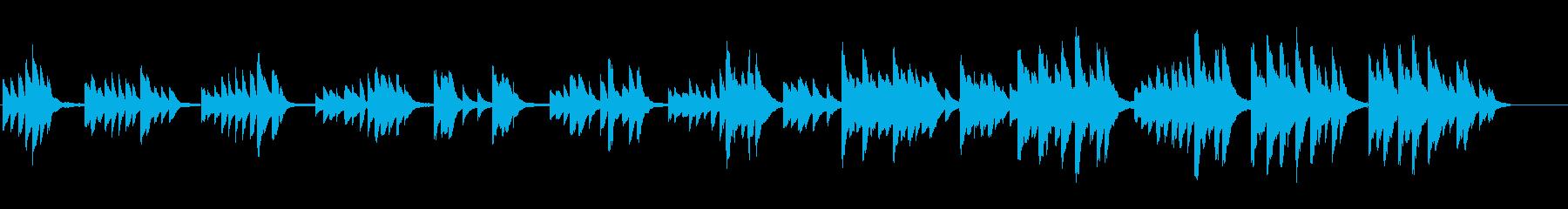徐々に盛り上がるピアノ曲  の再生済みの波形