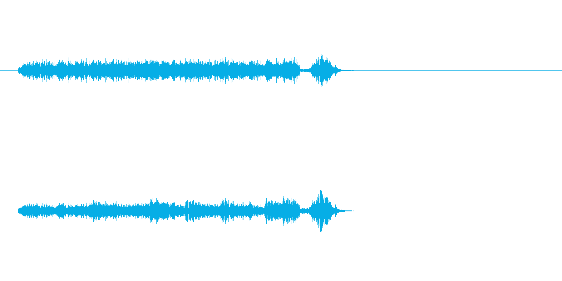 S.E.ジングルの再生済みの波形