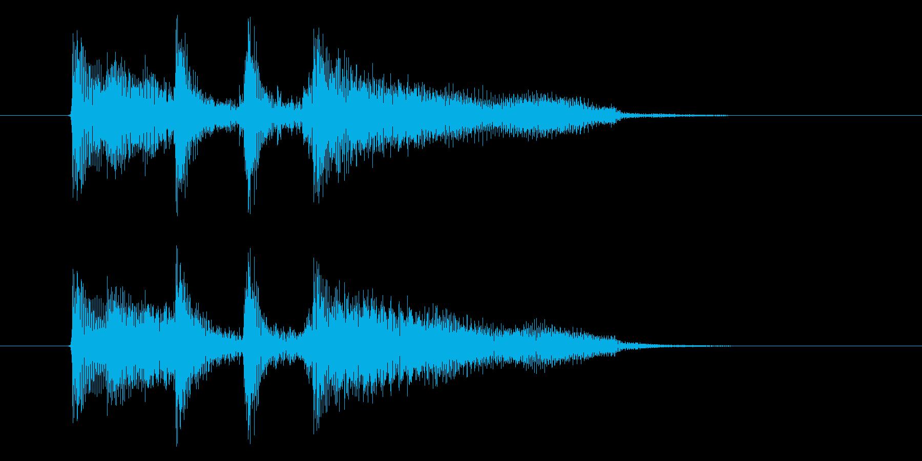 ほのぼのとしたアコギとエレピのジングルの再生済みの波形