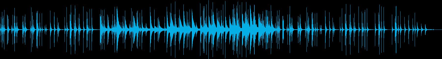 素朴な民族楽器の音色のゆったり優しい曲の再生済みの波形