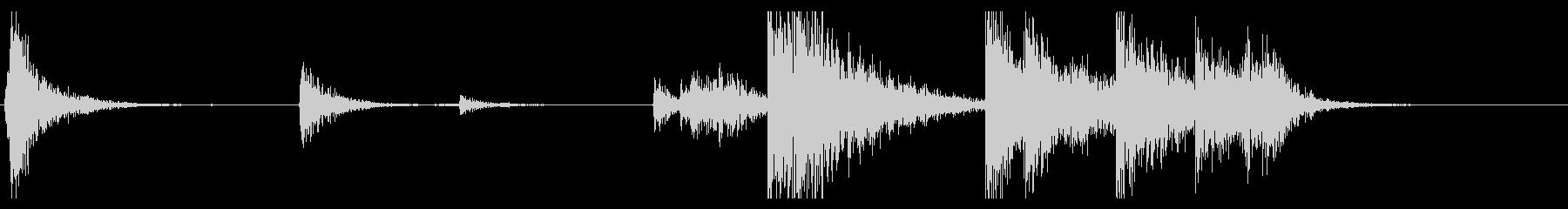 【生録音】ブリキのバケツの音 学校 8の未再生の波形