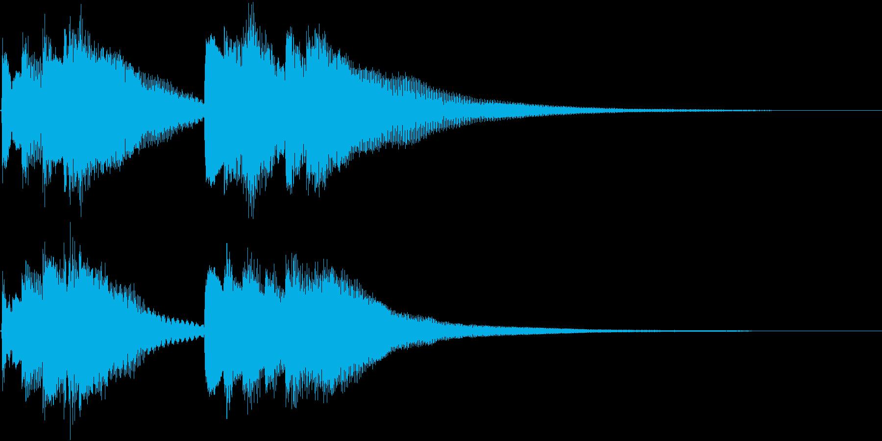 和風 箏(琴)下がっていく音2の再生済みの波形
