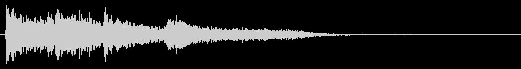 爽やかなピアノのサウンドロゴの未再生の波形