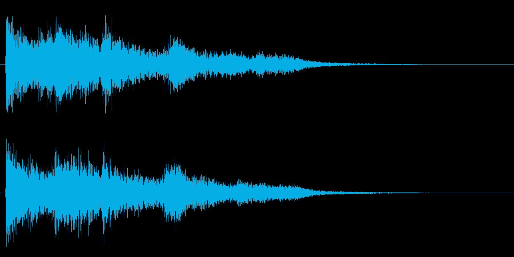 爽やかなピアノのサウンドロゴの再生済みの波形