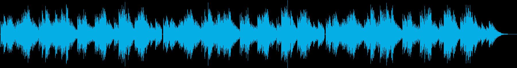 しっとりと優しい音色の3拍子エレピソロ曲の再生済みの波形