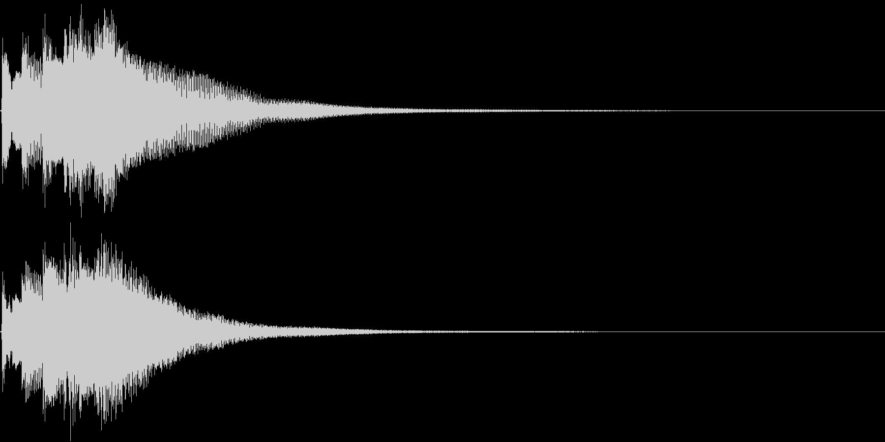 和風 箏(琴)下がっていく音1の未再生の波形