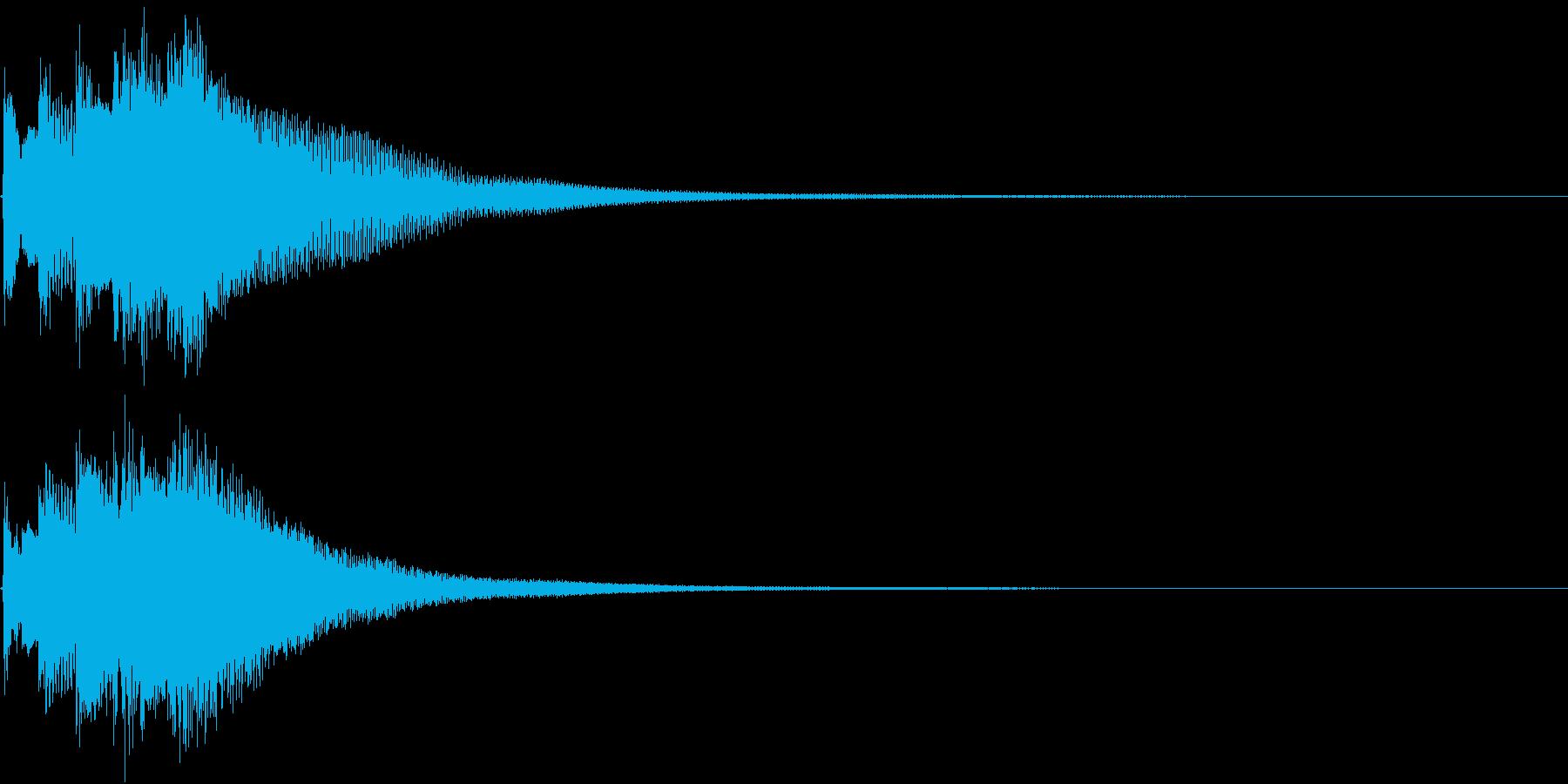 和風 箏(琴)下がっていく音1の再生済みの波形