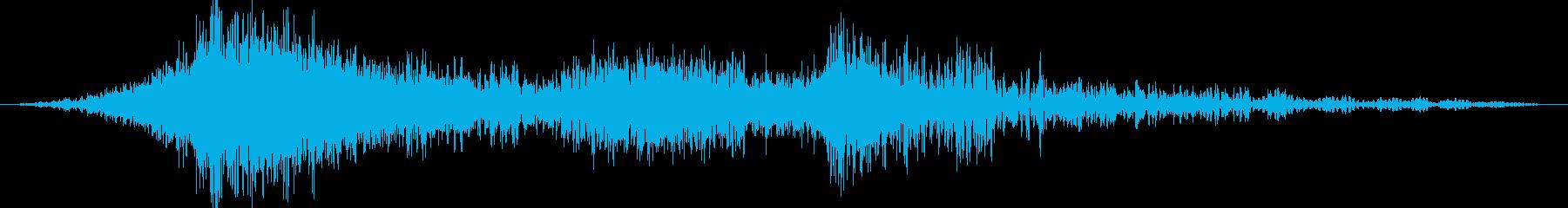 リアル系 獣 モンスター 攻撃動作音の再生済みの波形