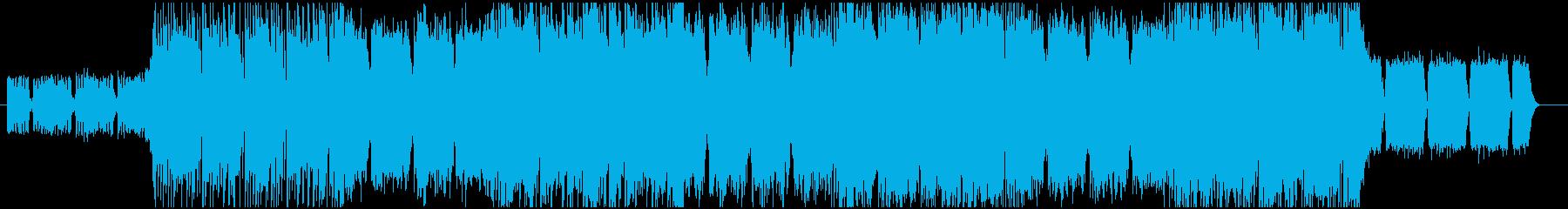 疾走感あるメタル・ロック系BGM_1の再生済みの波形