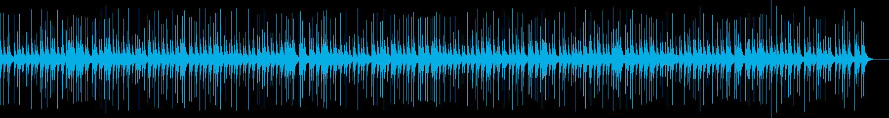 よく聴く伝統的な相撲の寄せ太鼓の再生済みの波形
