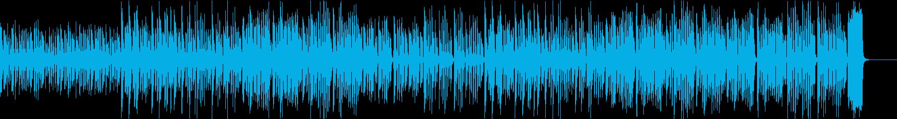 動画向け ゆるい雰囲気のリコーダーBGMの再生済みの波形