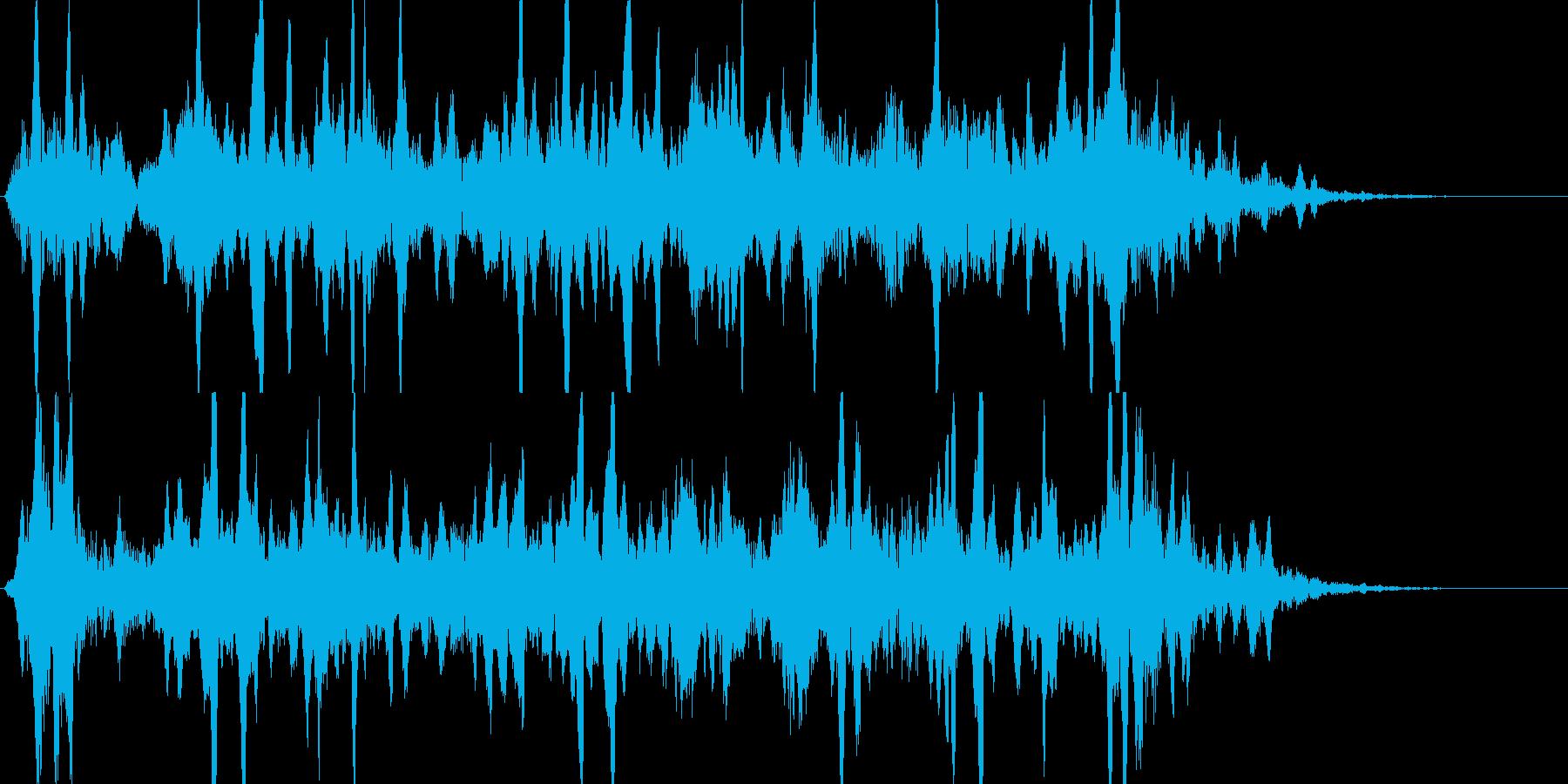 効果音。宇宙人登場の再生済みの波形