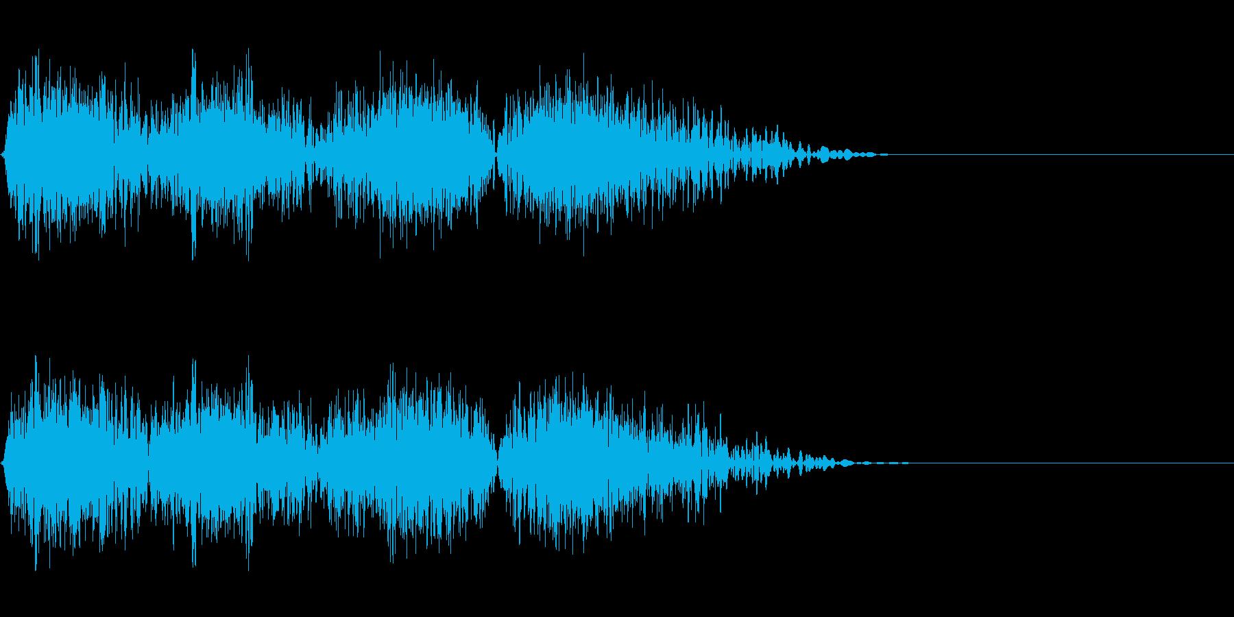 DJスクラッチ08_ワンショット03の再生済みの波形