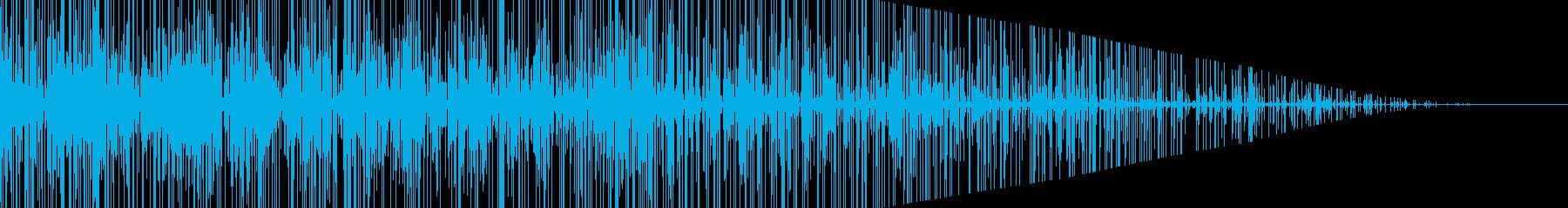 パチパチ…枯れ木と燃やしている音の再生済みの波形