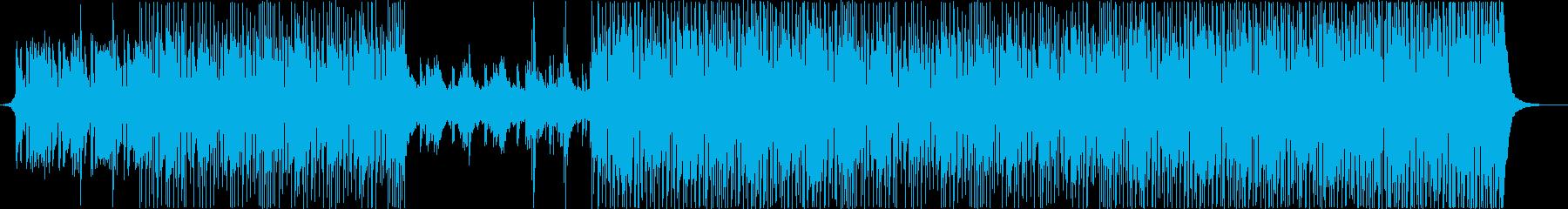高揚感あるポップロックミュージックの再生済みの波形