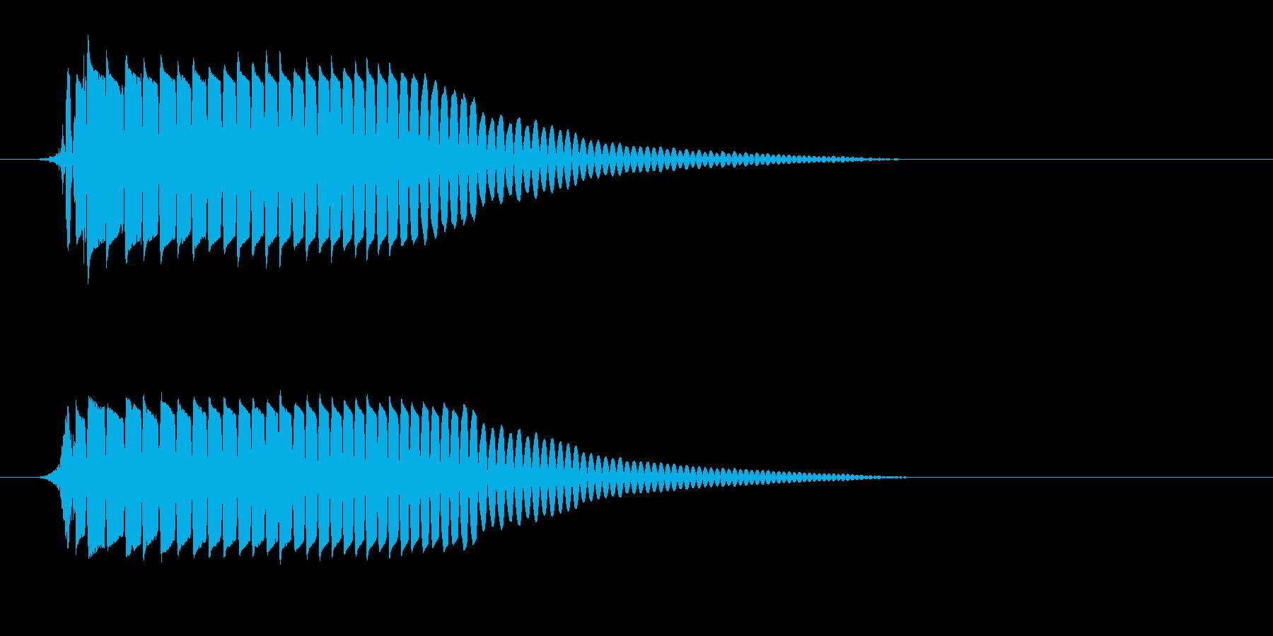 ポヨン(バウンドの音色)の再生済みの波形