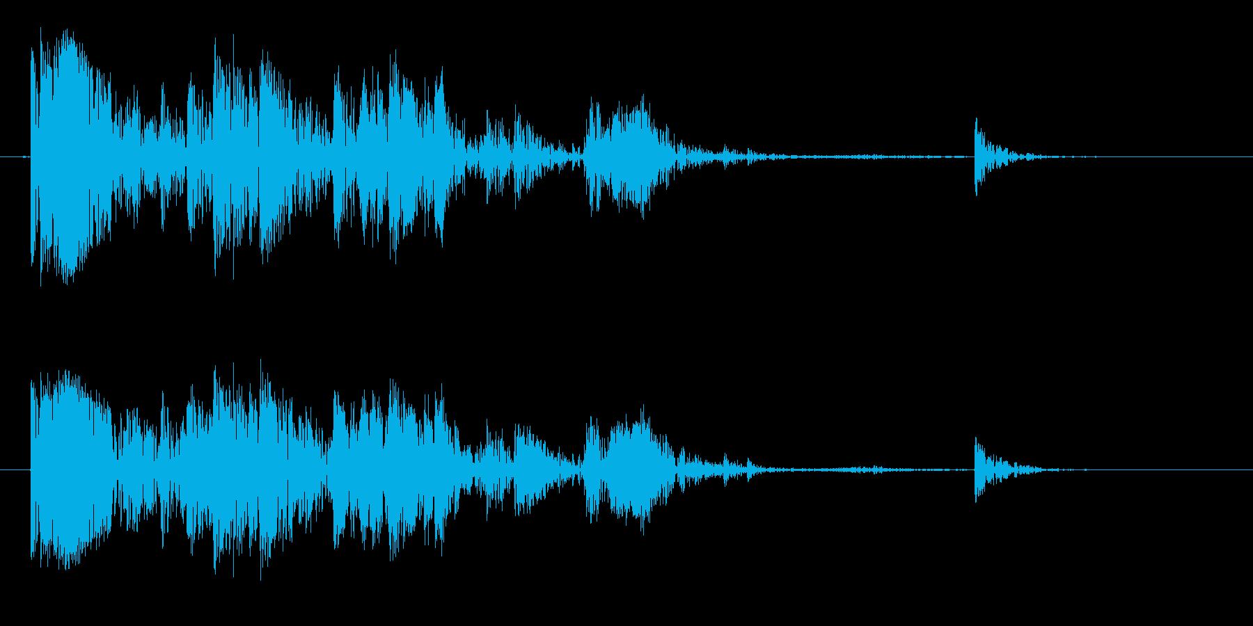 ウッドクラッシュアンドラトル1の再生済みの波形