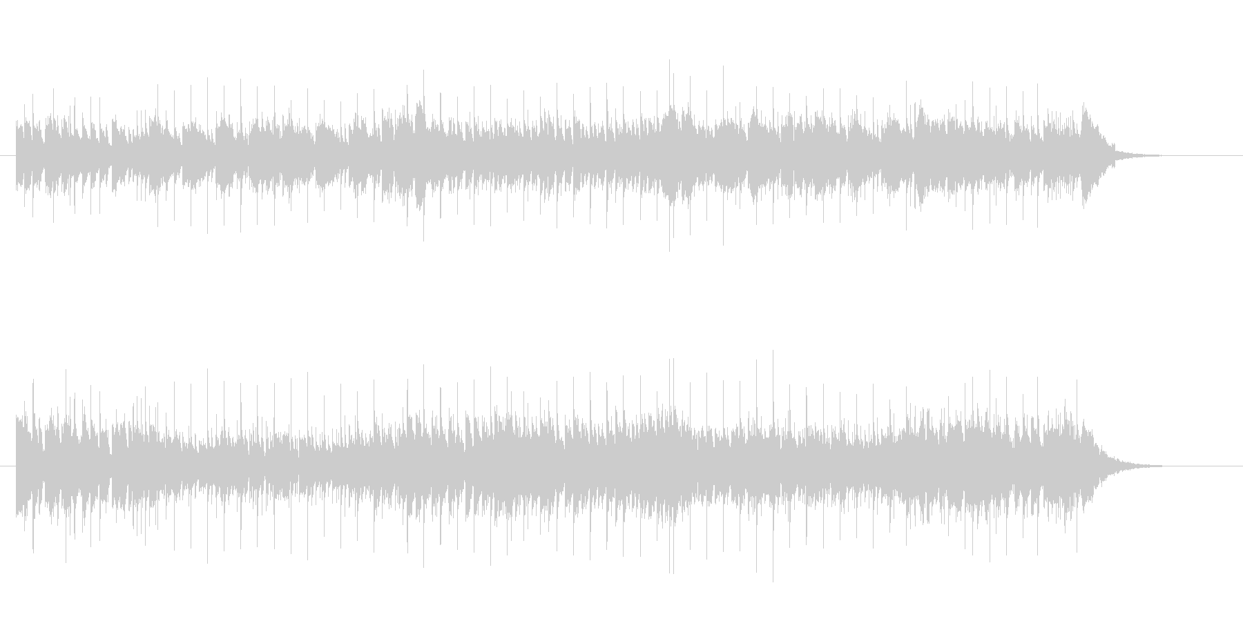 さわやかなメロディーのポップスの未再生の波形