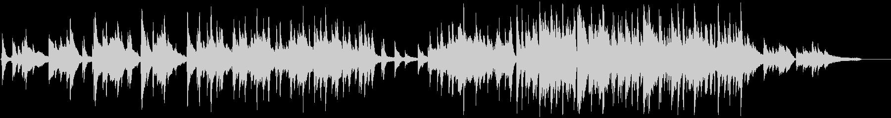 お洒落なジャズピアノトリオのワルツの未再生の波形