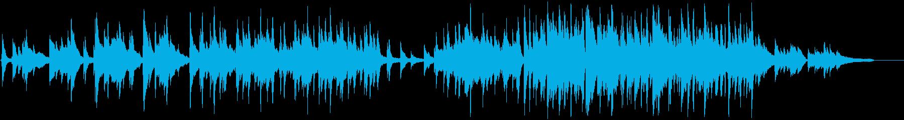 お洒落なジャズピアノトリオのワルツの再生済みの波形