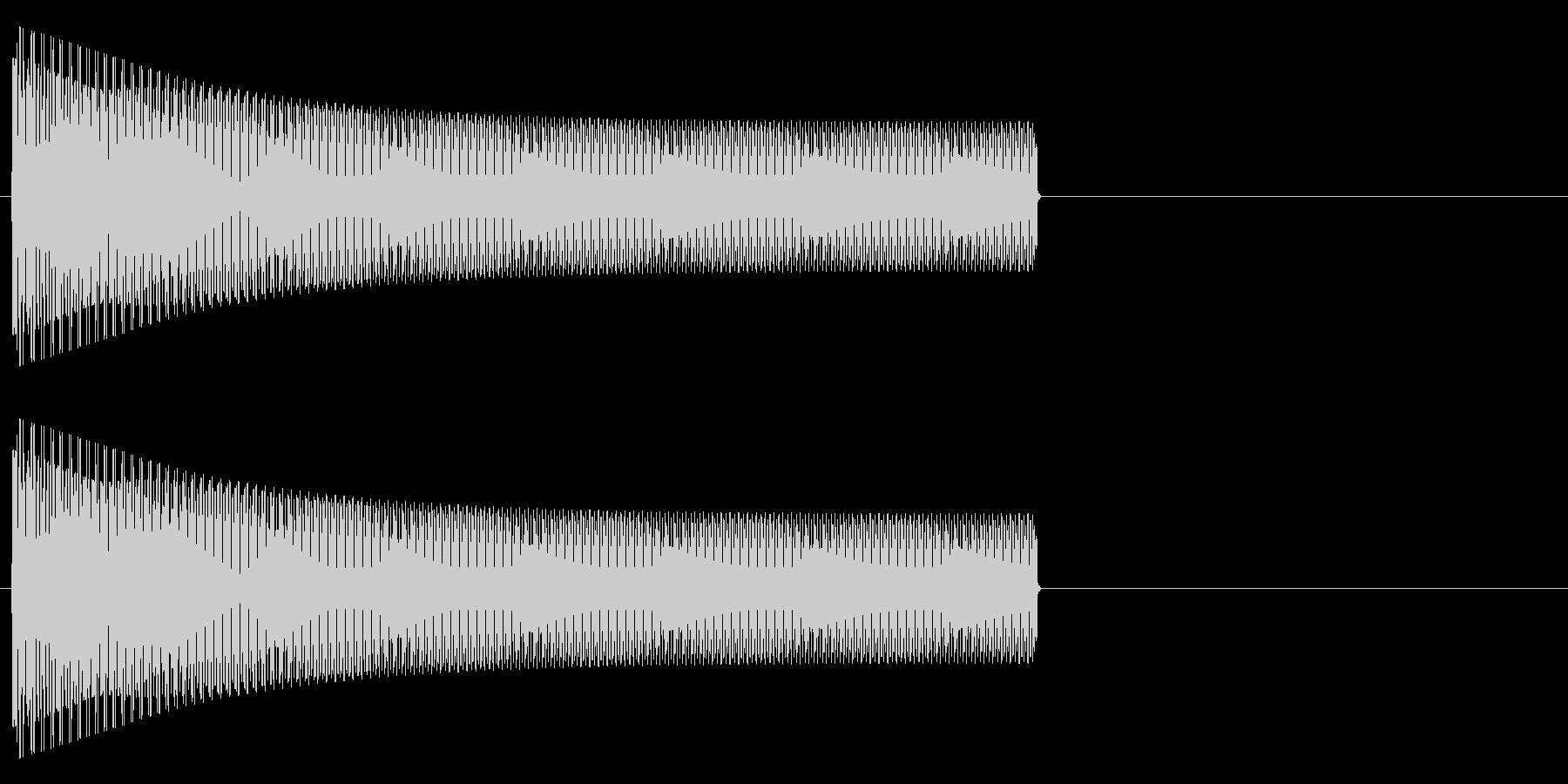 ブゥーーー(電子的)の未再生の波形