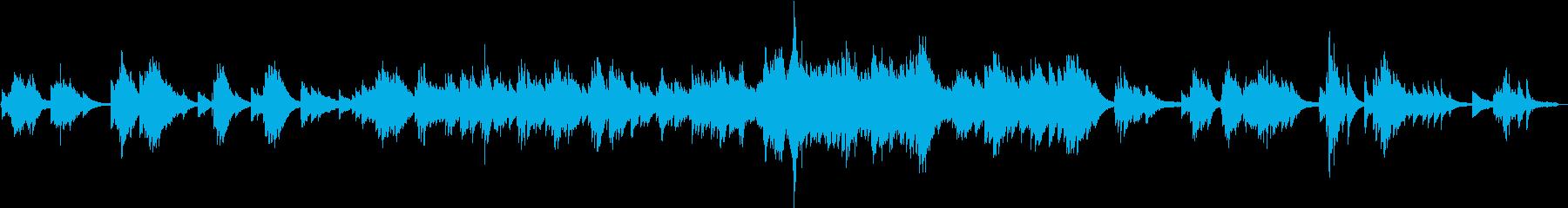 ノーブルな雰囲気のピアノ小曲の再生済みの波形