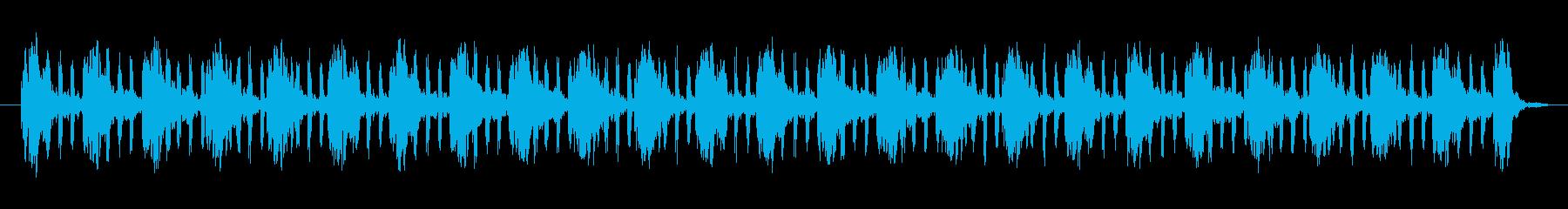 パワーハムパルスノイズの再生済みの波形