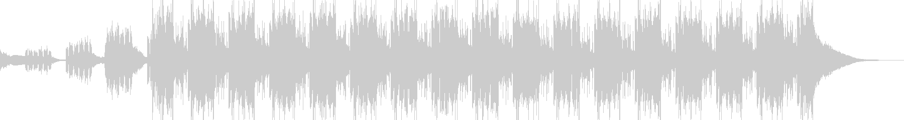 Glitch Hop 動画のEDイメージの未再生の波形