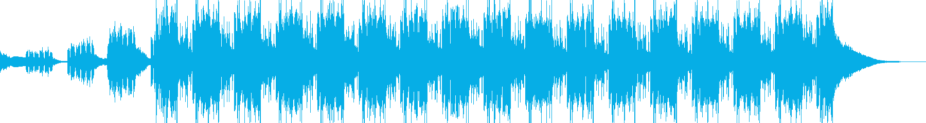 Glitch Hop 動画のEDイメージの再生済みの波形