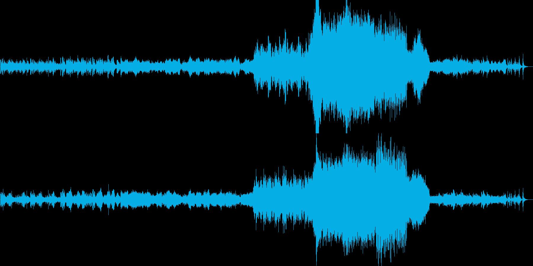 オルゴールを主体とした管弦楽の再生済みの波形