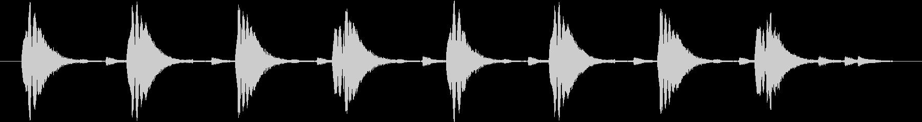 コミカルに何か近づいてくるようなジングルの未再生の波形