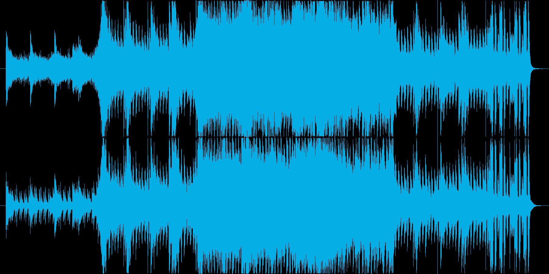 希望感のある爽やかなBGMの再生済みの波形