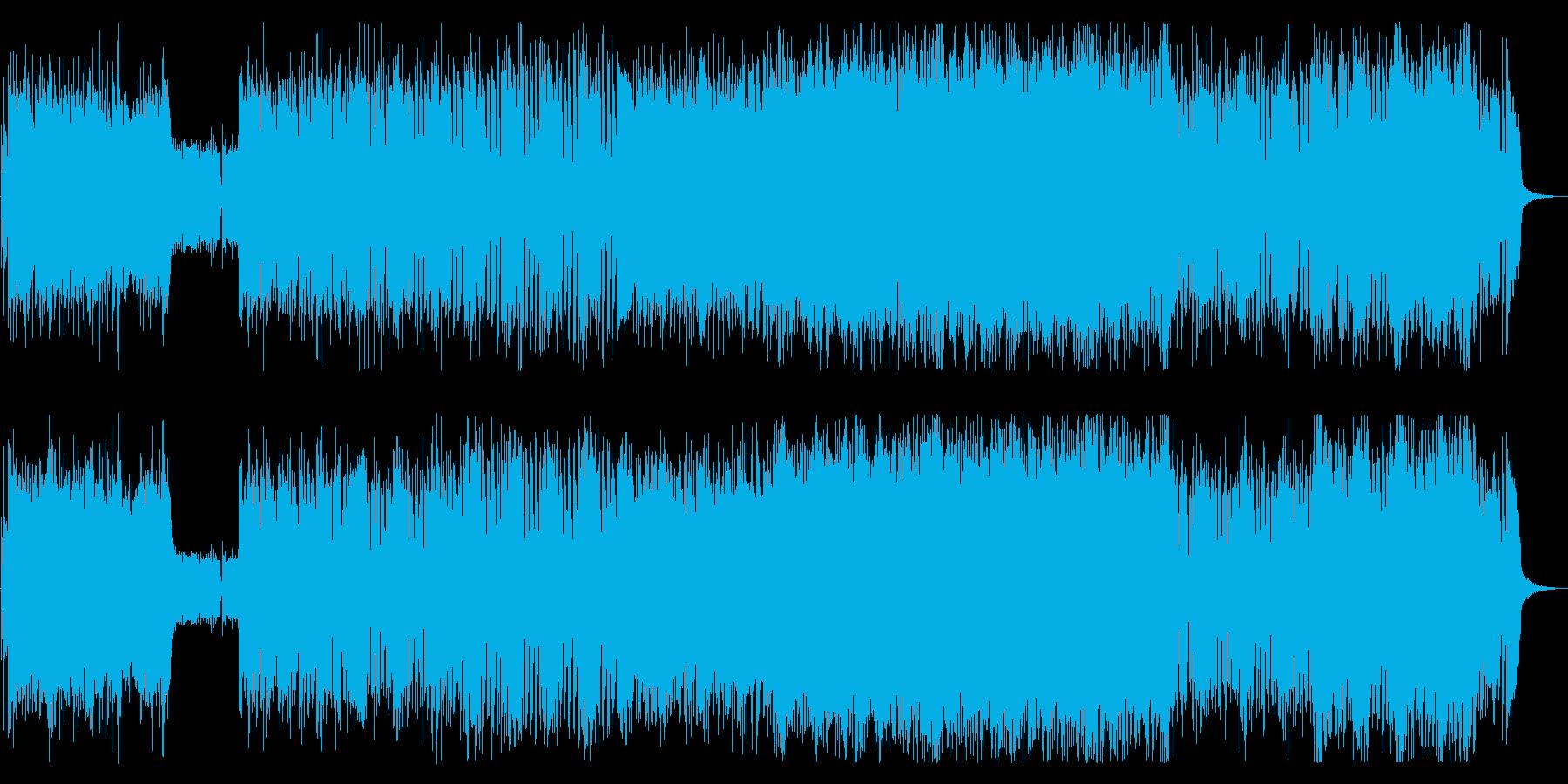 スピーディで爽快感溢れるロックの再生済みの波形