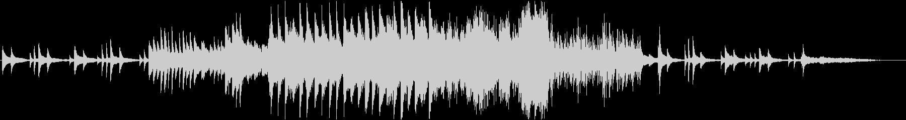 ピアノ、ストリングス、エピローグ、感動的の未再生の波形