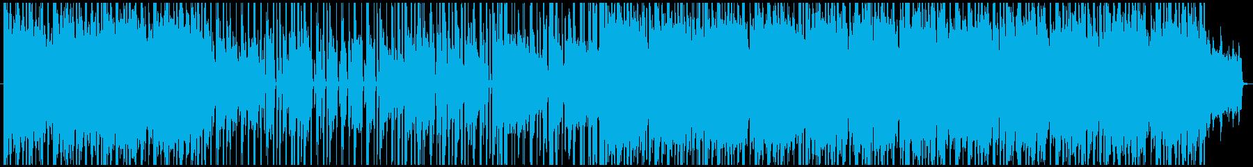 電子音と女性のコーラスが特徴的なポップスの再生済みの波形